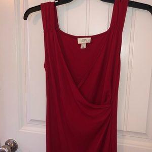 LOFT red cocktail dress